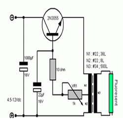 Rangkaian Lampu Darurat Inverter Sederhana