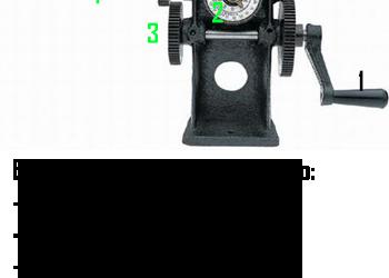 Alat Gulung Mesin Atau Motor Dinamo Manual Dengan Penunjuk Jarum